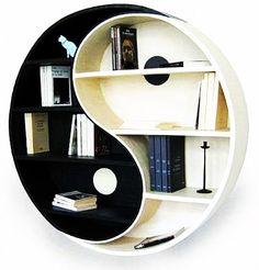 rak buku yin yang