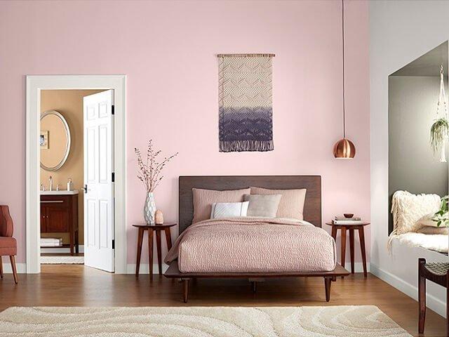 warna cat rumah dusty pink