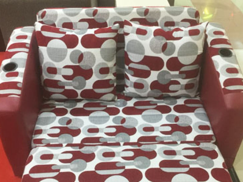 Sofa Bed Red Polkadot